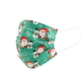 Санитарна маска SANI 3 CHRISTMAS SANTA GREEN - 10 бр.