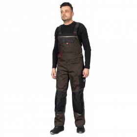 PRISMA BROWN Work bib pants 5
