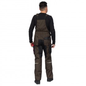 PRISMA BROWN Work bib pants 4