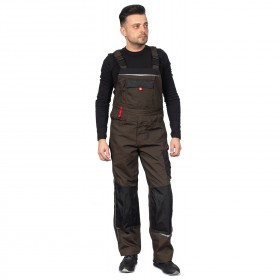 PRISMA BROWN Work bib pants 2