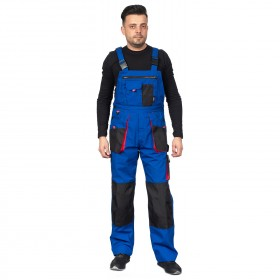 EMERTON ROYAL BLUE Work bib pants 2