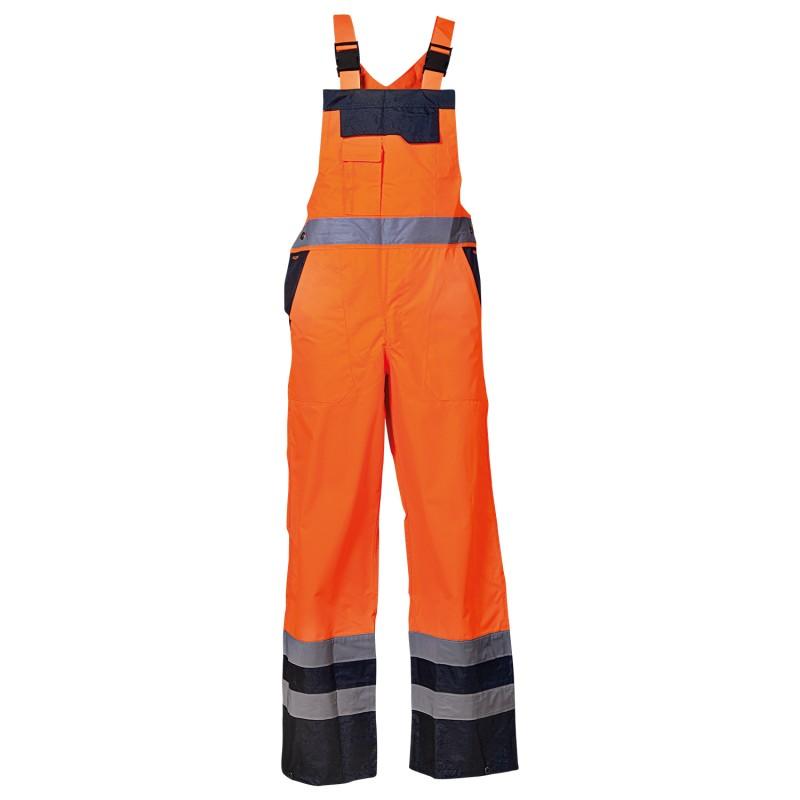 PONGO ORANGE High visibility bib pants