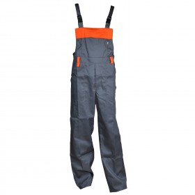 RUM BIBPANTS GREY Work bib pants