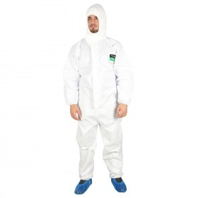 COVERALL WHITE 2.0 PNG TYPE 5, 6 Protective hooded coverall