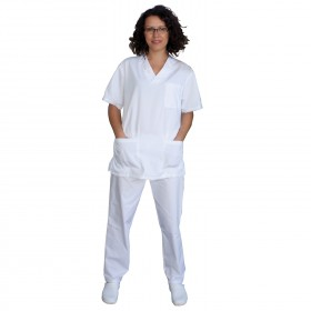 Медицински туника с панталон MK3 WHITE