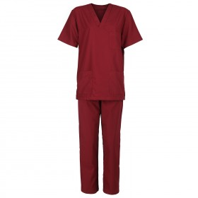 M3 BORDEAUX Medical tunic with pants