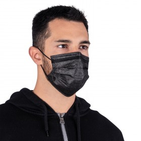 Медицинска маска SANI EVO BLACK-CN99 - TYPE IIR - 50 бр.
