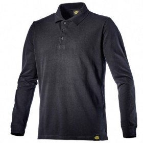 POLO ML ATLANTIS II BLACK Long sleeve polo t-shirt