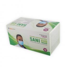 SANI EVO - TYPE IIR - 50 pcs Three-ply medical mask