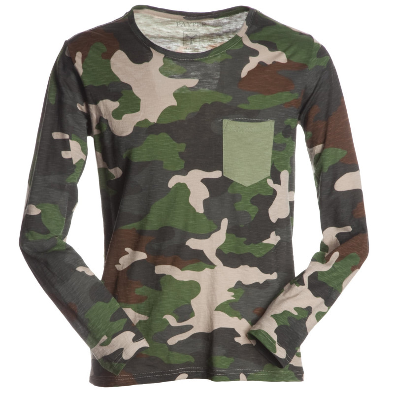PAYPER LIVING CAMOUFLAGE Long sleeve t-shirt