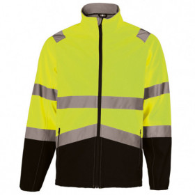 NOBEL YELLOW High visibility softshell jacket