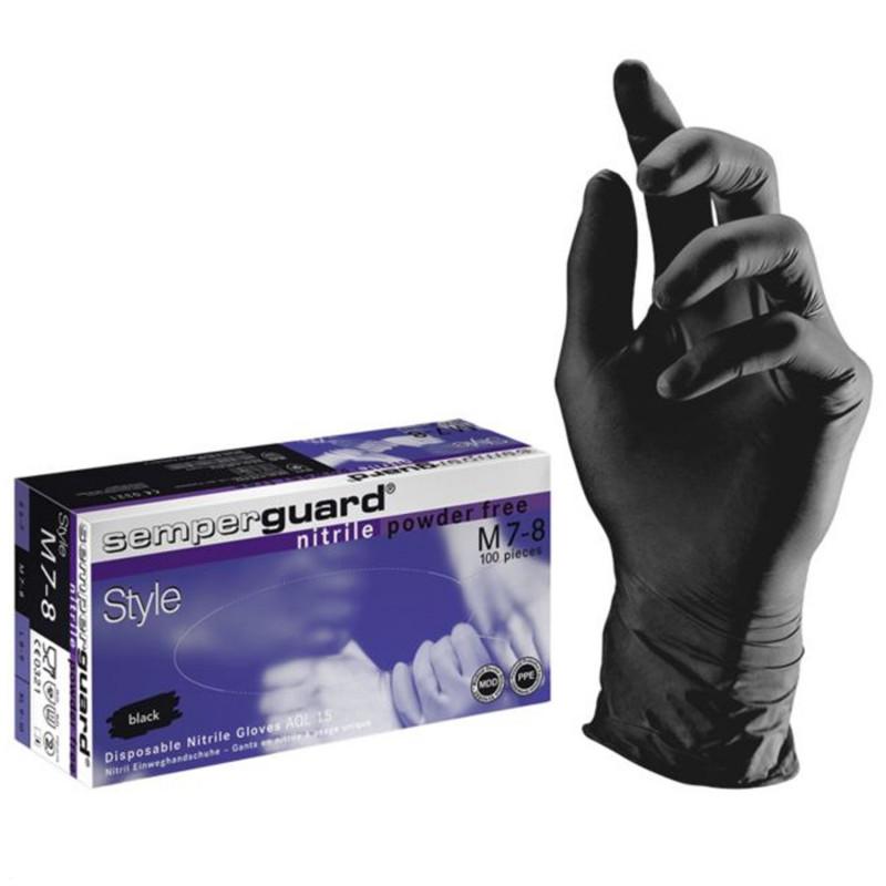 Еднократни ръкавици от нитрил SEMPERGUARD NITRIL STYLE BLACK