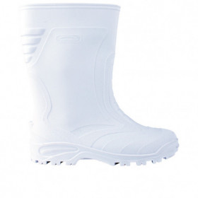ELASTIC WHITE Rubber boots