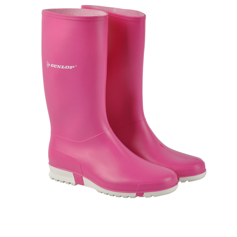 DUNLOP SPORT PINK Lady's rubber boots
