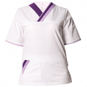 MARCEL WHITE/PURPLE Medical tunic