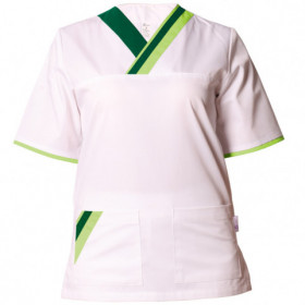 MARCEL WHITE/GREEN Medical tunic