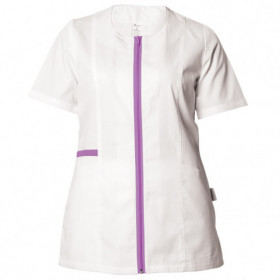 ZAIRA WHITE/PURPLE Lady's medical tunic