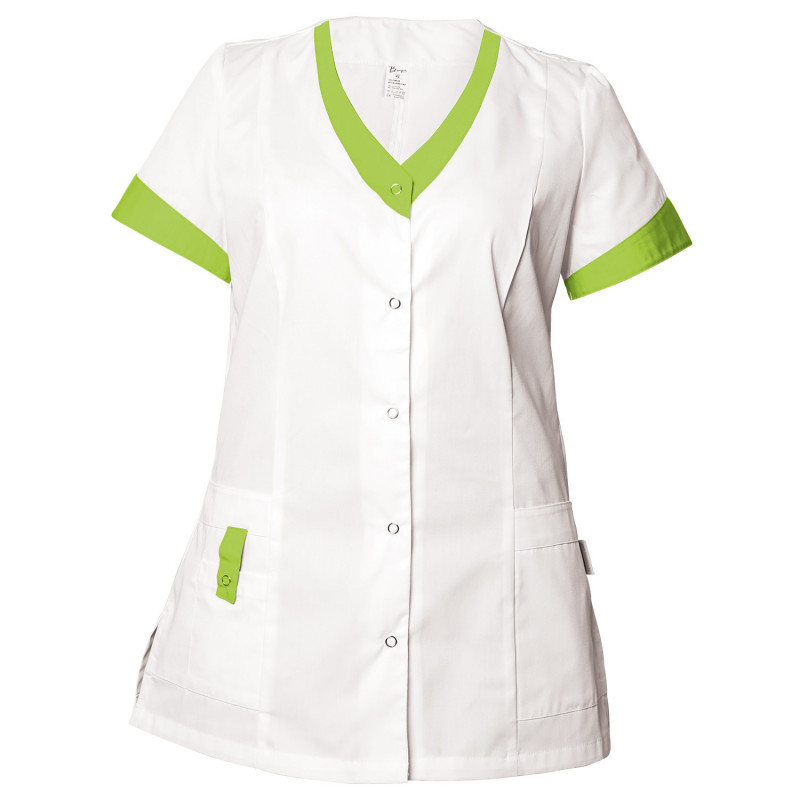 ALEGRA WHITE/LIGHT GREEN Lady's medical tunic