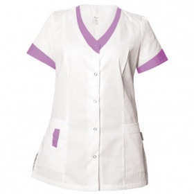 ALEGRA WHITE/PURPLE Lady's medical tunic