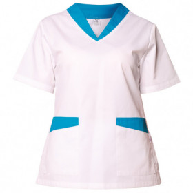 FABIANA WHITE/BLUE Lady's medical tunic