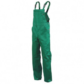 REX-S LIGHT GREEN Work bib pants