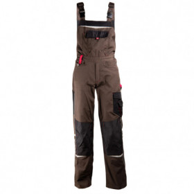 PRISMA BROWN Work bib pants